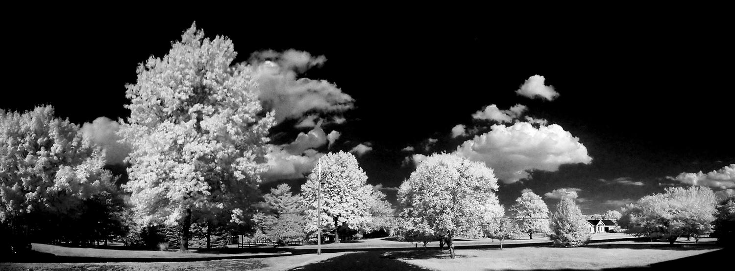 infrared panorama - Infrared in front of our house - Kodak Easyshare P880 - Tony Karp, design, art, photography, techno-impressionist, techno-impressionism, aerial photography , drone , drones , dji , mavic pro , video , 3D printing - Books -