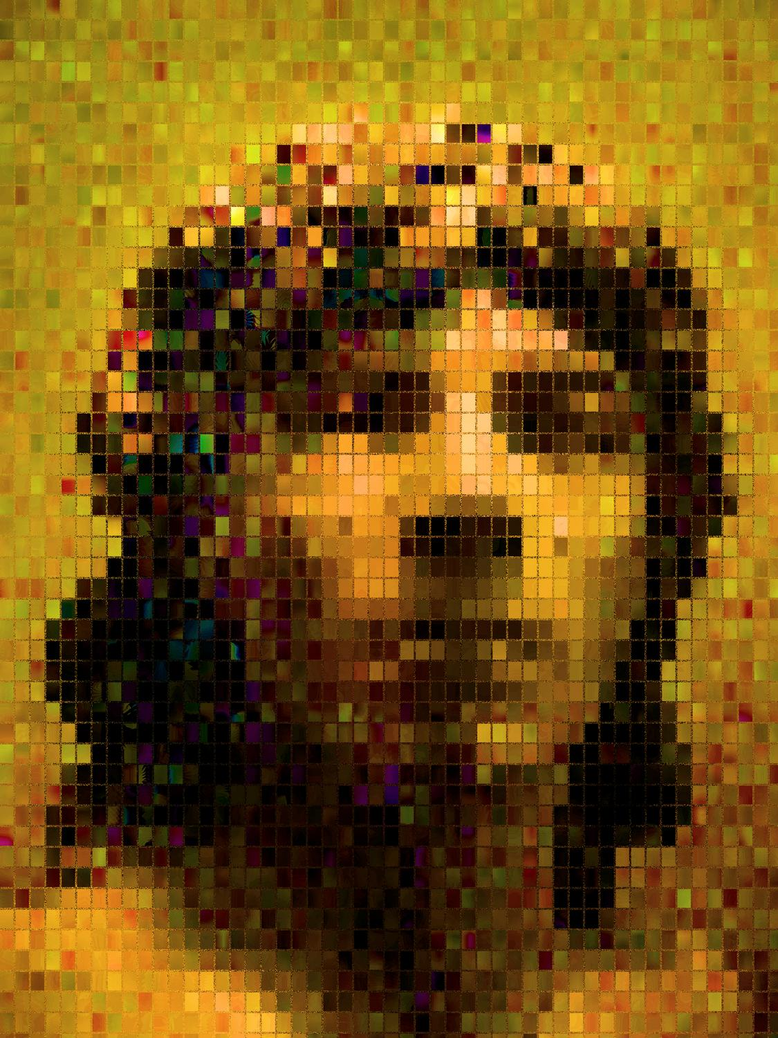 a Greek bust - Portrait in small, colored tiles - Metropolitan Museum of Art, New York City - Tony Karp, design, art, photography, techno-impressionist, techno-impressionism, aerial photography , drone , drones , dji , mavic pro , video , 3D printing - Books -