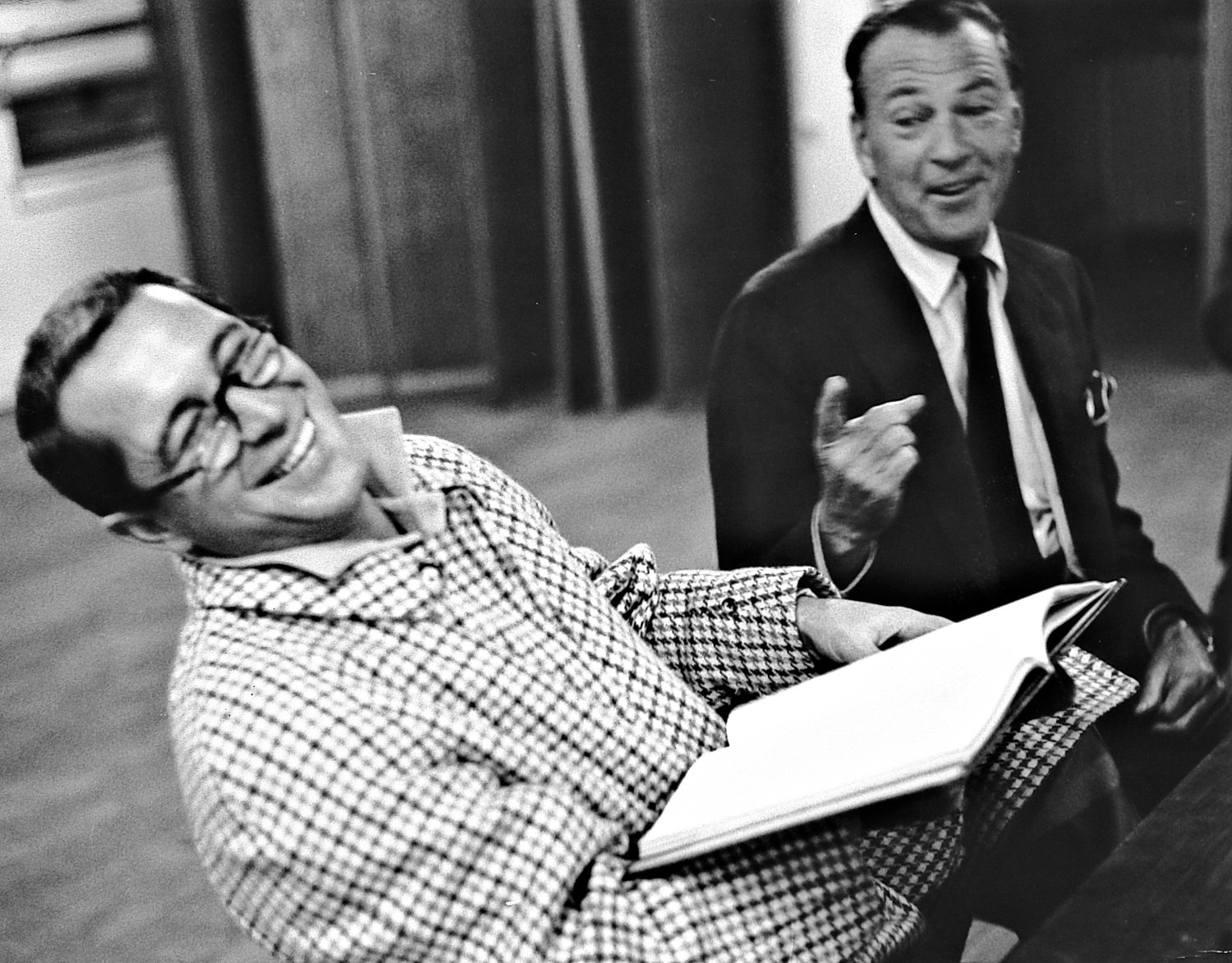 - Perry Como and Gary Cooper share a joke at a rehearsal. - Perry Como Show - NBC - Tony Karp, design, art, photography, techno-impressionist, techno-impressionism, aerial photography , drone , drones , dji , mavic pro , video , 3D printing - Books -
