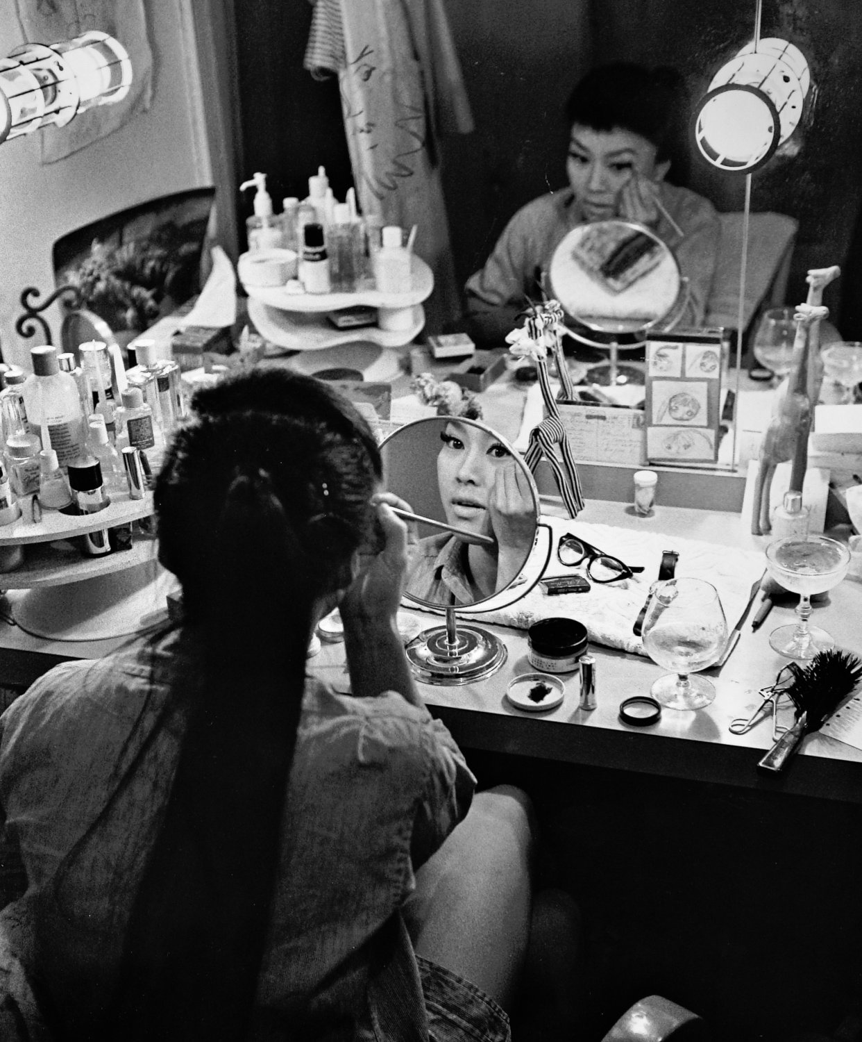 - In her dressing room, Pat Suzuki gets ready to go onstage at the St. James Theatre where she was starring in Flower Drum Song. - Tony Karp, design, art, photography, techno-impressionist, techno-impressionism, aerial photography , drone , drones , dji , mavic pro , video , 3D printing - Books -