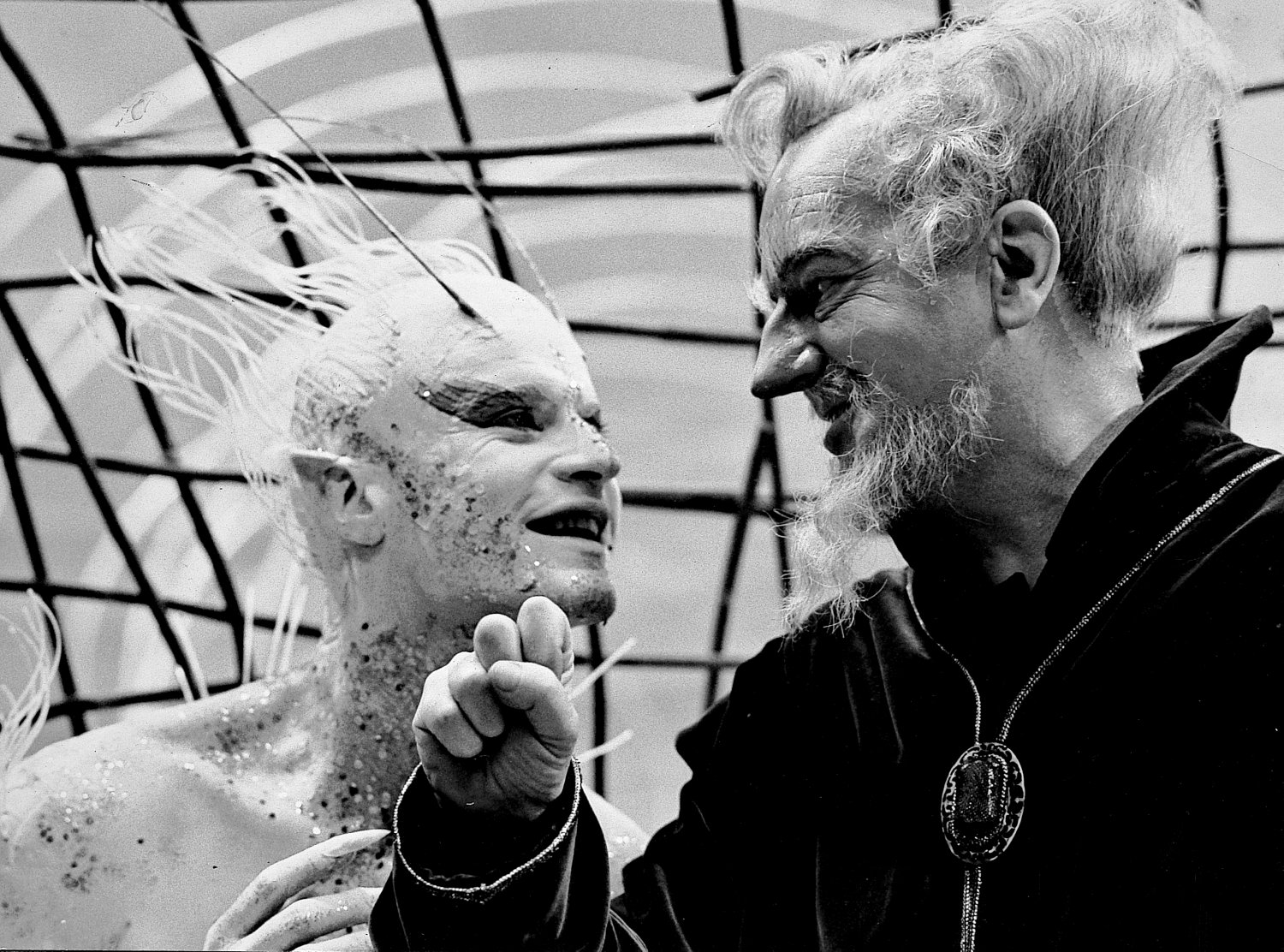 - Roddy McDowall as Ariel and Maurice Evans as Prospero  in Shakespeare's <I>The Tempest</I> - Shakespeare - The Tempest - Richard Burton - Maurice Evans - Lee Remick - Roddy McDowall - NBC Television - Hallmark Hall of Fame - Tony Karp, design, art, photography, techno-impressionist, techno-impressionism, aerial photography , drone , drones , dji , mavic pro , video , 3D printing - Books -