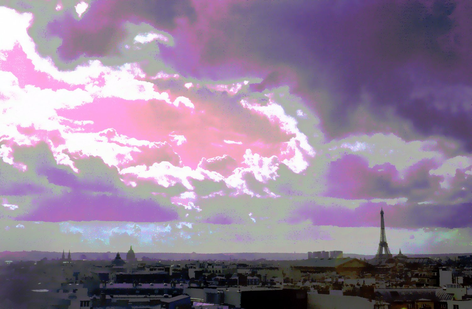 - Clouds approach the Eiffel Tower. - Paris, eiffel tower - - art  - photography - by Tony Karp