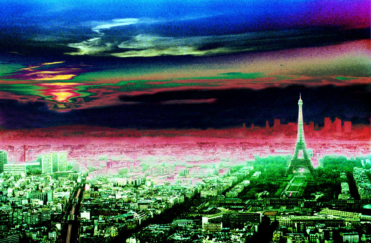 - An otherworldly view of the sunset in Paris. - Paris, eiffel tower - - art  - photography - by Tony Karp