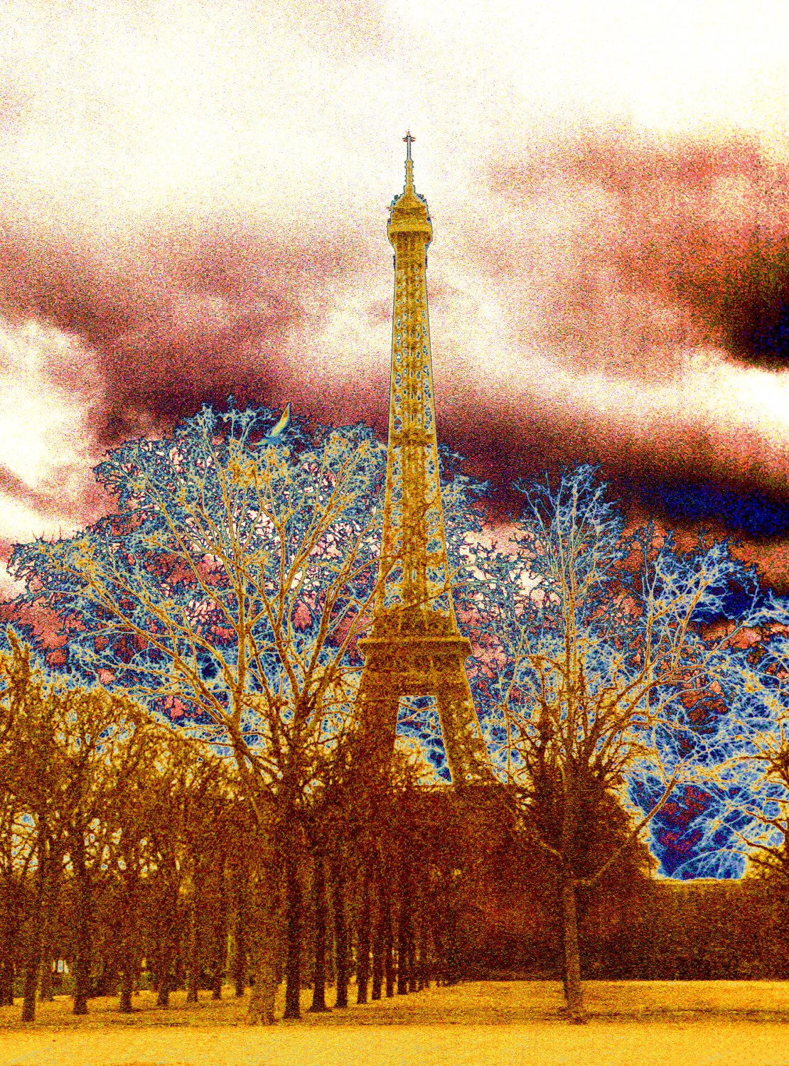 - The Eiffel tower in the manner of a nineteenth century photographer. - Paris, eiffel tower - - art  - photography - by Tony Karp