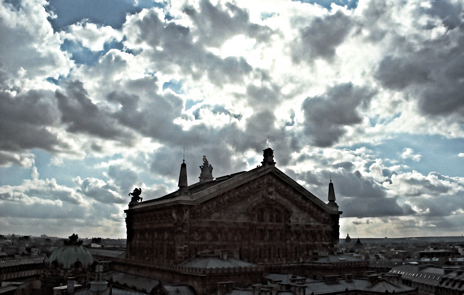 - Clouds surround the opera house. - Paris, eiffel tower - - art  - photography - by Tony Karp