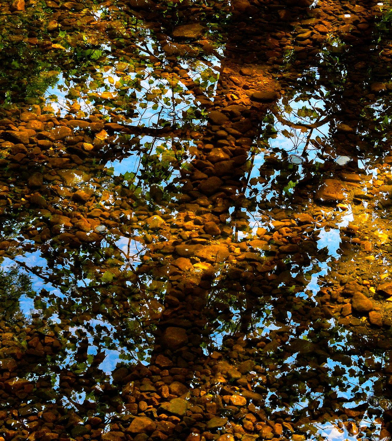 reflections on water - Clear water at Bull Run - Panasonic DMC-FZ18 - Tony Karp, design, art, photography, techno-impressionist, techno-impressionism, aerial photography , drone , drones , dji , mavic pro , video , 3D printing - Books -