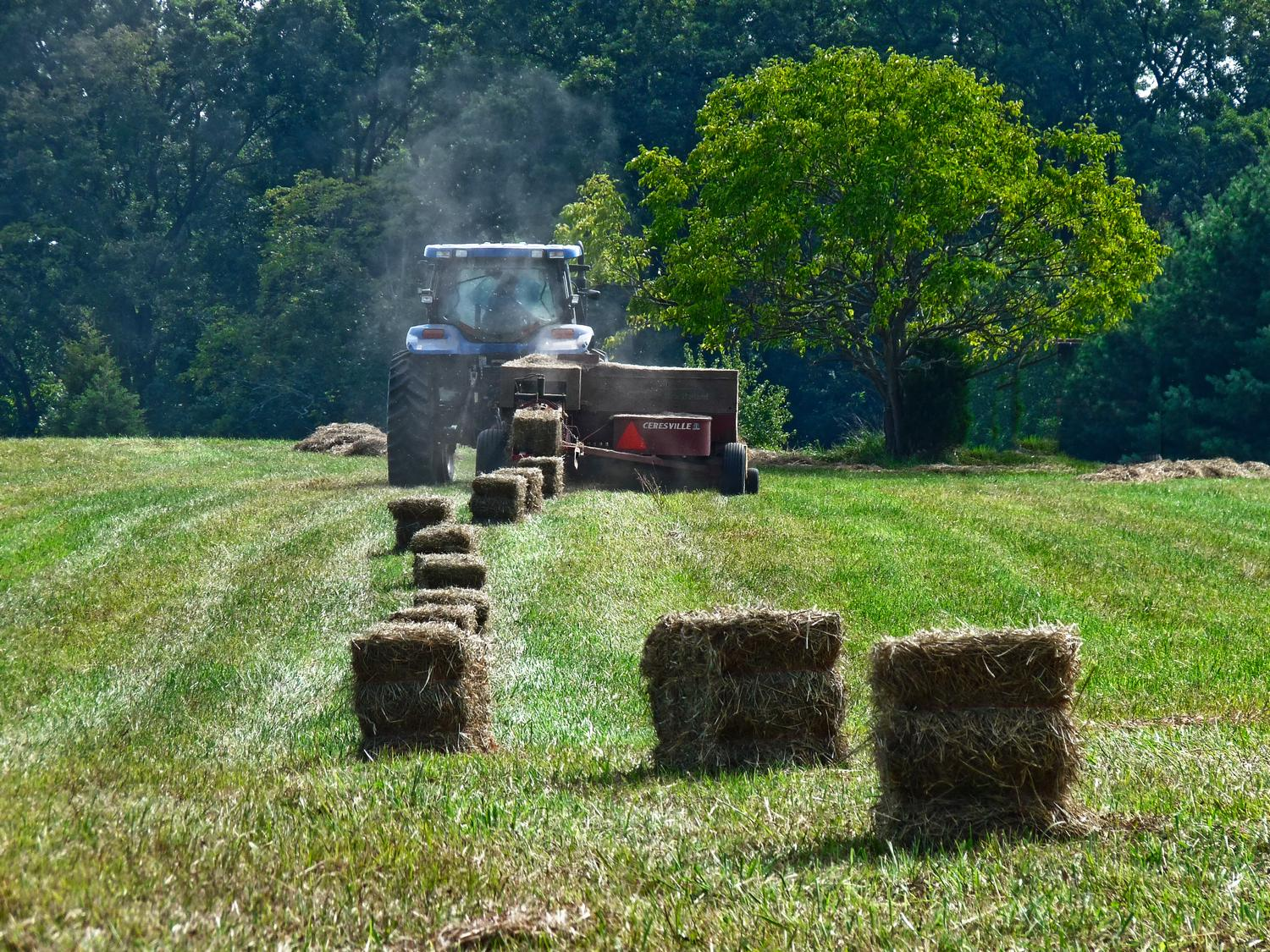 tractor making bales of hay - Makin' hay - Panasonic DMC-FZ28 - Tony Karp, design, art, photography, techno-impressionist, techno-impressionism, aerial photography , drone , drones , dji , mavic pro , video , 3D printing - Books -